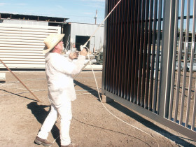 Electrostatic Painting Metal Louvers