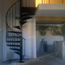 Electrostatic Painting Spiral Stair